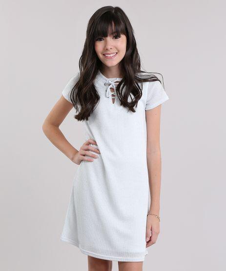 Vestido-com-Lurex-e-Lace-Up-Branco-8872831-Branco_1