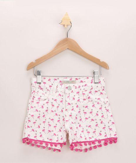 Short-Infantil-de-Sarja-Estampado-de-Flamingos-com-Bolsos-e-Pompom-Off-White-9965927-Off_White_1