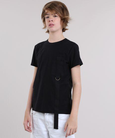 Camiseta-Flame-com-Bolso-Preta-8816315-Preto_1