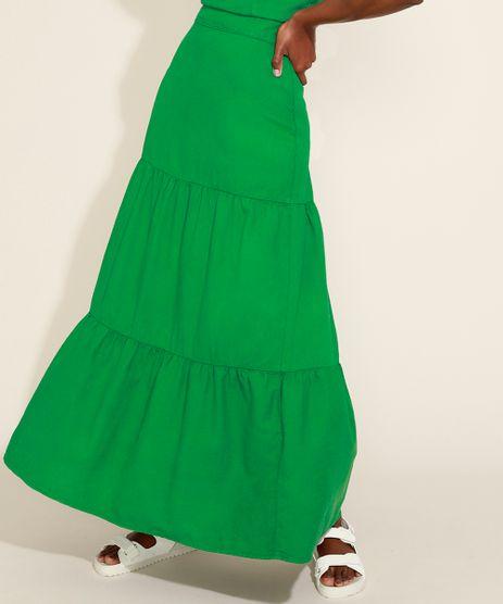 Saia-Feminina-Mindset-Longa-com-Recortes-Verde-9974830-Verde_1
