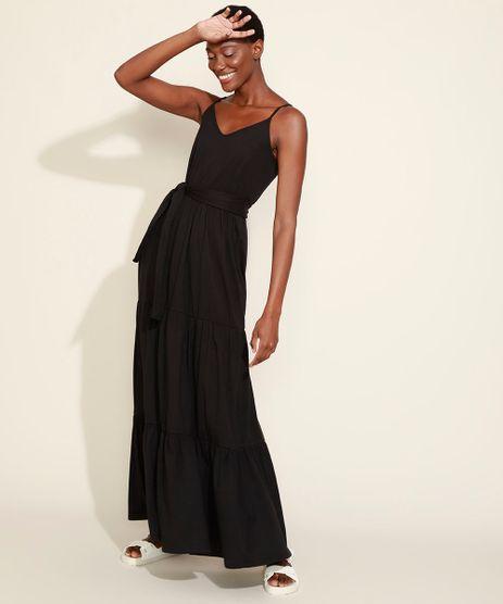 Vestido-Feminino-Mindset-Longo-com-Recortes-e-Faixa-para-Amarrar-Alca-Fina-Preto-9975455-Preto_1