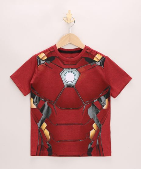 Camiseta-Infantil-Homem-de-Ferro-Emborrachado-Manga-Curta-Vermelha-9965118-Vermelho_1