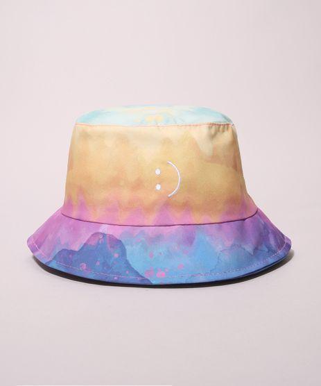 Chapeu-Masculino-Bucket-Estampado-Tie-Dye-com-Bordado-de-Carinha-Multicor-9973357-Multicor_1