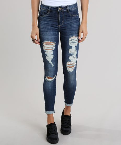 Calca-Jeans-Super-Skinny-Destroyed-Sawary-Azul-Medio-8935527-Azul_Medio_1