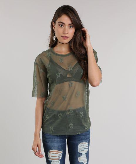 Blusa-em-Tule-com-Estrelas-Verde-Militar-8960124-Verde_Militar_1