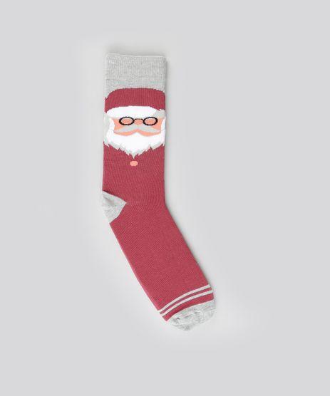 Meia-com-Estampa--Papai-Noel--Vinho-9046419-Vinho_1