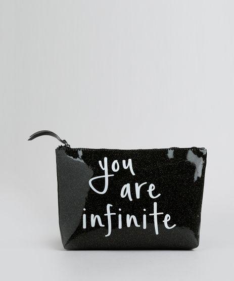 Necessaire-com-Brilho--You-Are-Infinite--Preta-8953836-Preto_1