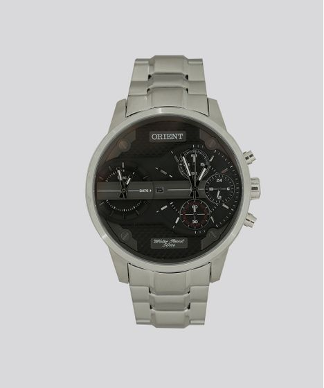 6d83a429cde Relógio Analógico Orient Masculino - MBSST001 P1SX Prateado - cea
