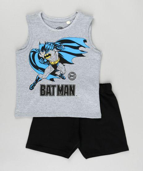 Conjunto-Batman-de-Regata-Cinza-Mescla---Bermuda-Preta-8962535-Preto_1
