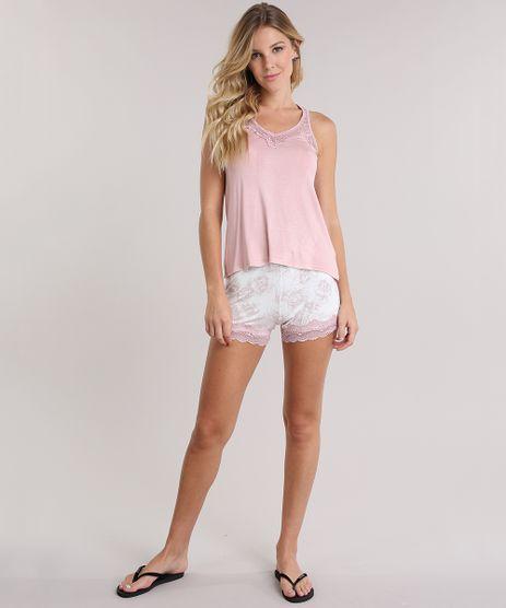 Pijama-Estampado-Floral-com-Renda-Rose-8708523-Rose_1