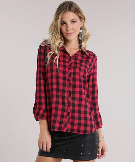 ad86ccc536 Camisa-Xadrez-Vermelha-8962144-Vermelho_1 ...