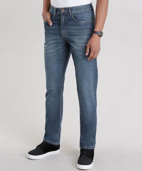 Calca-Jeans-Reta-com-Algodao---Sustentavel-Azul-Escuro-8516306-Azul_Escuro_1