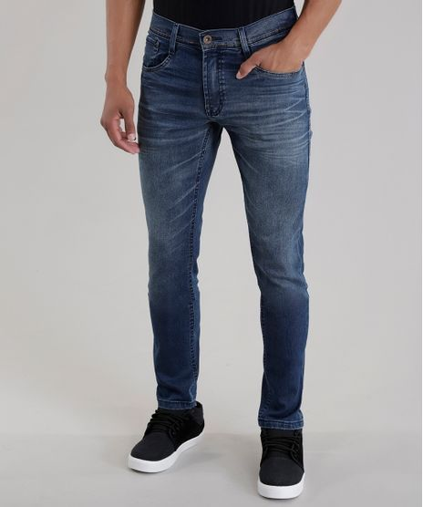 7ebd55219 Calca-Jeans-Skinny-Azul-Escuro-8431238-Azul_Escuro_1. Moda Masculina