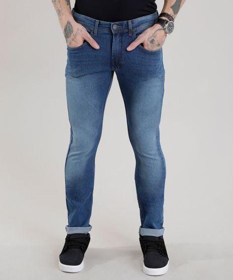Calca-Jeans-Slim-com-Algodao---Sustentavel-Azul-Medio-8701592-Azul_Medio_1