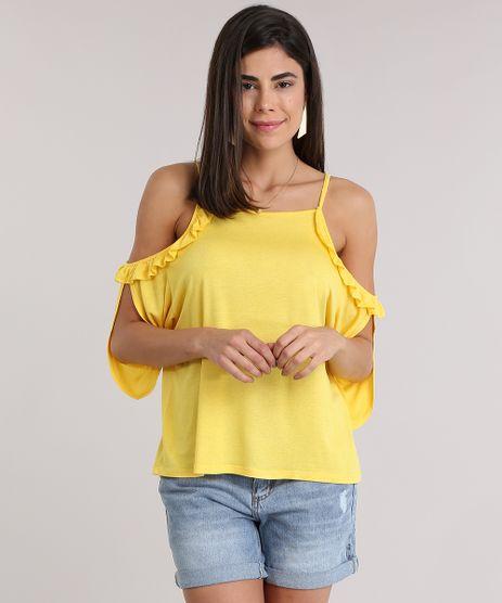 Blusa-Open-Shoulder-com-Babado-Amarela-8832474-Amarelo_1