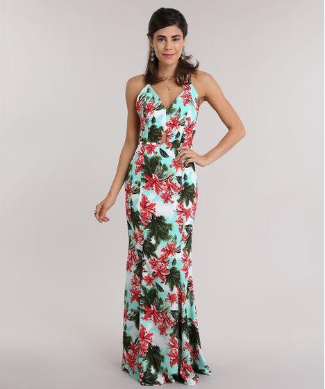 55c59502e Vestido-Longo-Estampado-Floral-Verde-Claro-8736419-Verde Claro 1 ...