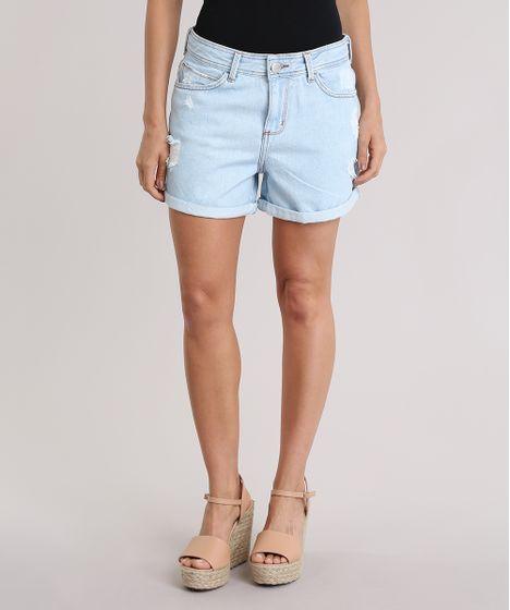 73a073b05 Short-Jeans-Boyfriend-destroyed-Azul-Claro-8837596-Azul_Claro_1 ...