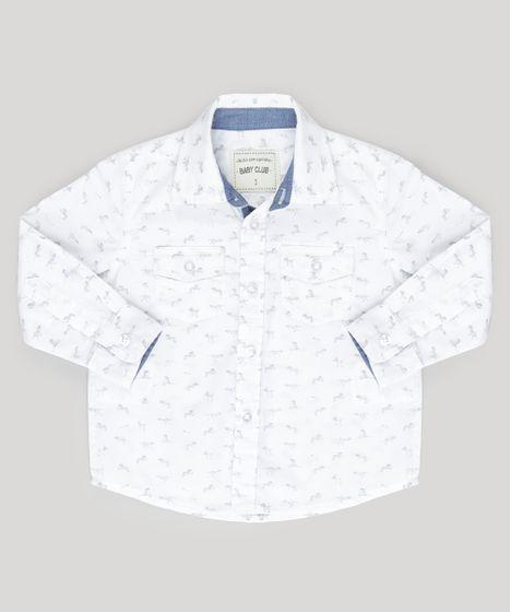 51618a06c6 Camisa-Estampada-de-Dinossauros-Off-White-8752164-Off White 1 ...