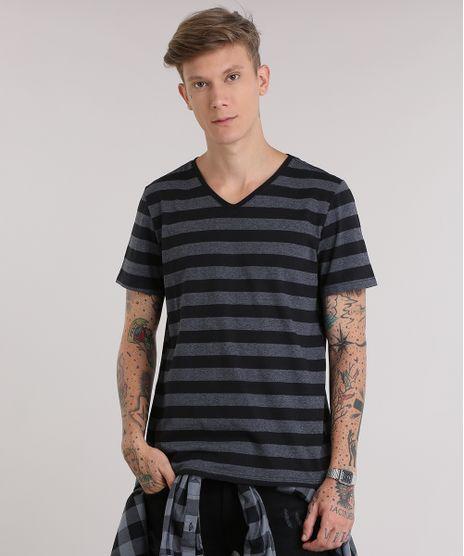 3c2120f73 Camiseta-Listrada-Preta-8260085-Preto_1