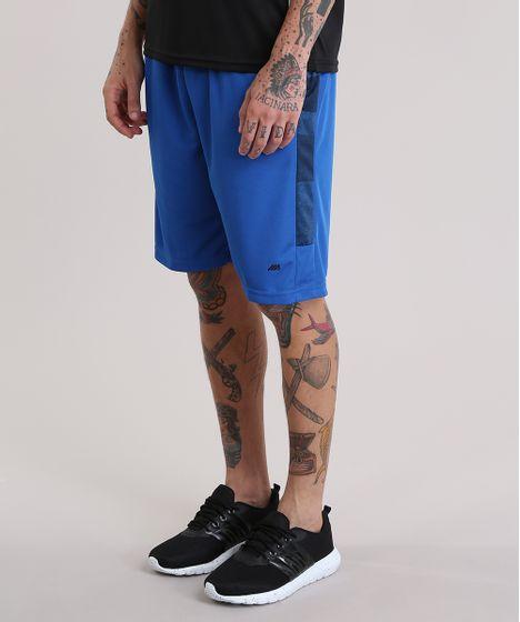 Bermuda de Futebol Ace com Recortes Azul Royal - cea 7f15655c1da5e