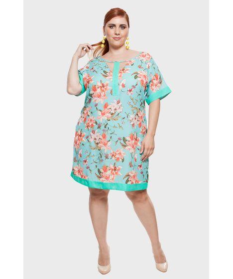 007a09a1c Vestido Floral Plus Size - cea