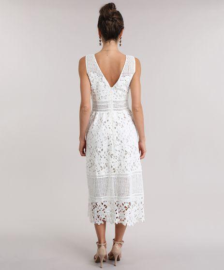 Black Friday Vestido Branco Laise Em Promoção Compre