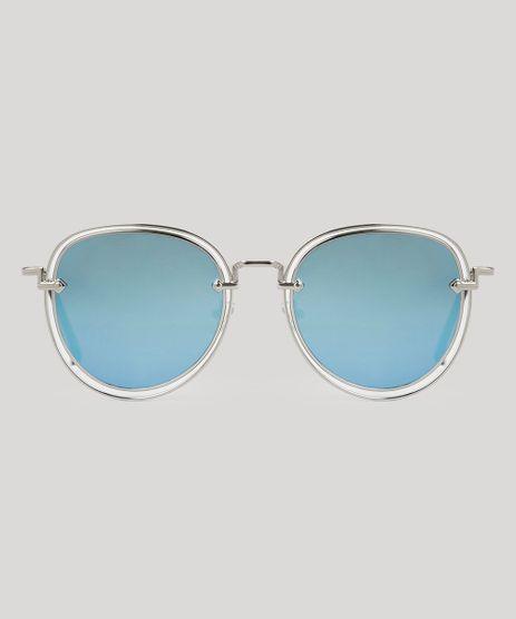 Oculos-de-Sol-Redondo-Feminino-Oneself-Prateado-8965667-Prateado_1