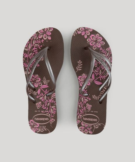 Chinelo-Havaianas-Estampado-Floral-Marrom-8985712-Marrom_1