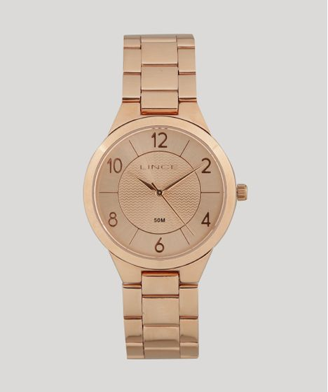 537a15575f8 Relógio Analógico Lince Feminino - LRR4438L R2RX Rosê - cea