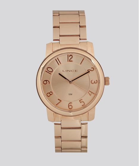 48f6656b06b Relógio Analógico Lince Feminino - LRR4439L R2RX Rosê - cea