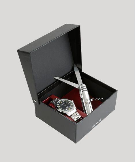 e63525150 Kit de Relógio Analógico Seculus Masculino + Canivete Suíço ...
