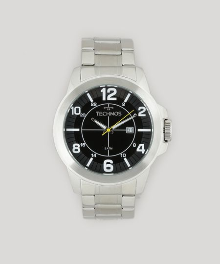 Relógio Analógico Technos Masculino - 2115MGR1P Prateado - cea 9b055cb9b0