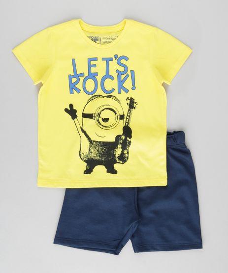 Conjunto-de-Camiseta-Amarela---Bermuda-Minions-Azul-Marinho-8962505-Azul_Marinho_1