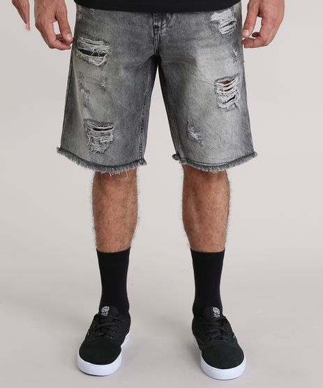 Bermuda-Jeans-Destroyed-Preta-8766933-Preto_1