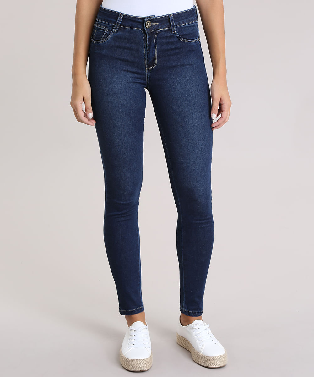 ec9fc9595 Calça Jeans Super Skinny Push Up Sawary Azul Escuro - ceacollections