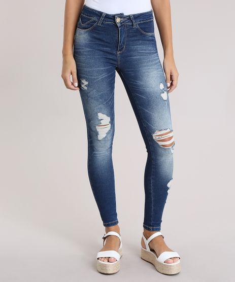 Calca-Jeans-Super-Skinny-Destroyed-Sawary-Azul-Medio-9058294-Azul_Medio_1