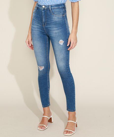 Calca-Jeans-Feminina-Sawary-Super-Skinny-360-Push-Up-Cintura-Alta-Destroyed-Azul-Medio-9974653-Azul_Medio_1