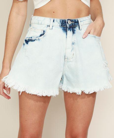 Short-Jeans-Feminino-Gode-Cintura-Super-Alta-Destroyed-com-Barra-Desfiada-Azul-Claro-9974815-Azul_Claro_1