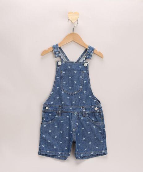 Jardineira-Jeans-Infantil-Estampada-de-Coracoes-Azul-Medio-9965917-Azul_Medio_1
