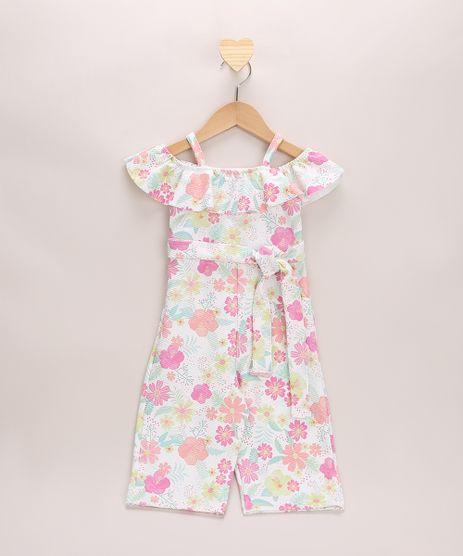 Macacao-Infantil-Texturizado-Estampado-Floral-Ciganinha-Open-Shoulder-Manga-Curta--Off-White-9967896-Off_White_1