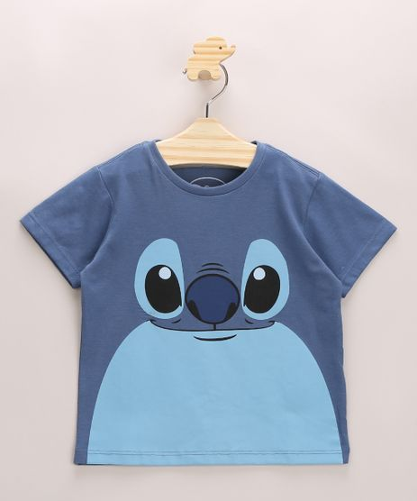 Camiseta-Infantil-Stitch-Manga-Curta-Gola-Careca-Azul-9970060-Azul_1