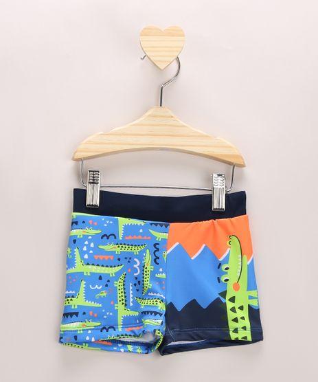Sunga-Infantil-Boxer-Estampada-de-Jacares-Azul-Claro-9964842-Azul_Claro_1