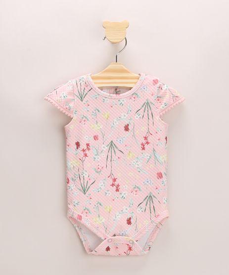 Body-Infantil-Texturizado-Estampado-Floral-Manga-Curta-Rosa-Claro-9967811-Rosa_Claro_1