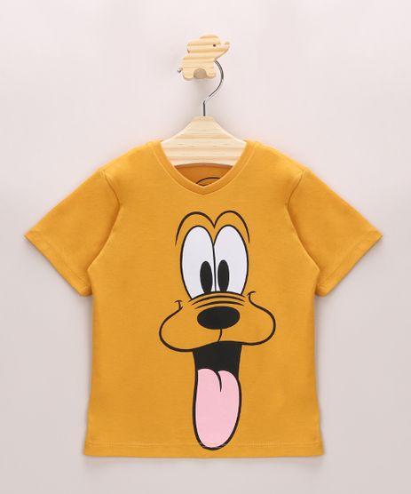 Camiseta-Infantil-Pluto-Manga-Curta-Gola-Careca-Mostarda-9970061-Mostarda_1