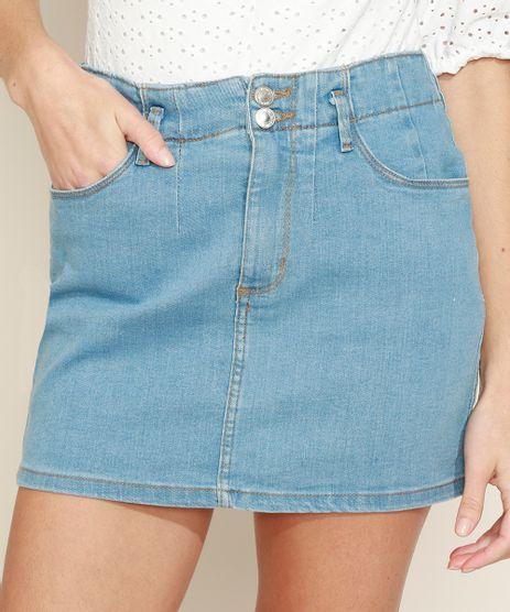 Saia-Jeans-Feminina-Curta-com-Recorte-Azul-Medio-9968636-Azul_Medio_1