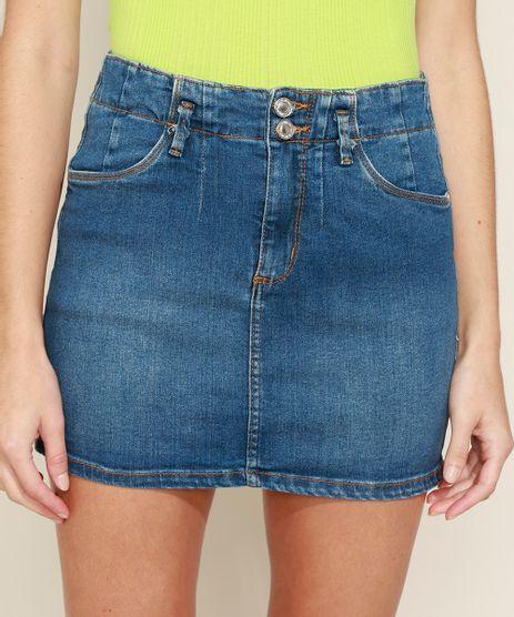 Saia-Jeans-Feminina-Curta-com-Recorte-Azul-Escuro-9968633-Azul_Escuro_1