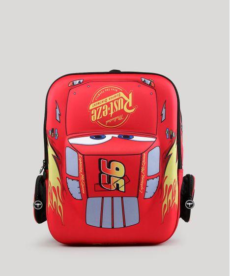 97f14dd9d Mochila Escolar Infantil Carros de Costas 3D Vermelha - cea