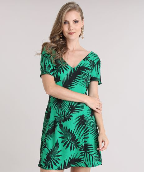 Vestido-Estampado-de-Folhagem-Verde-8727372-Verde_1