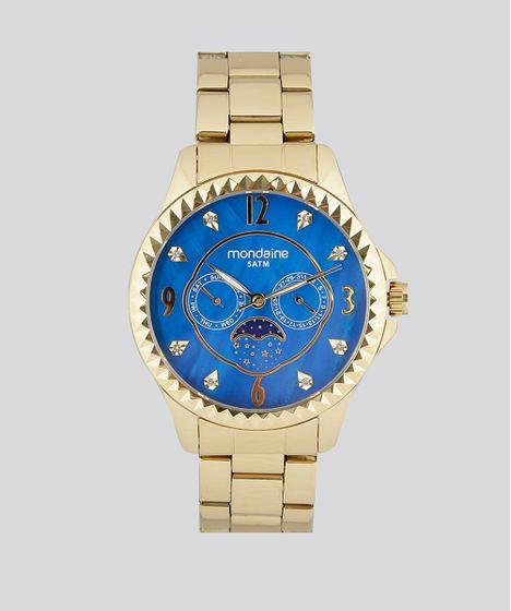 70d8cb5607f Relógio Analógico Mondaine Feminino - 78664LPMVDA2 Dourado - cea