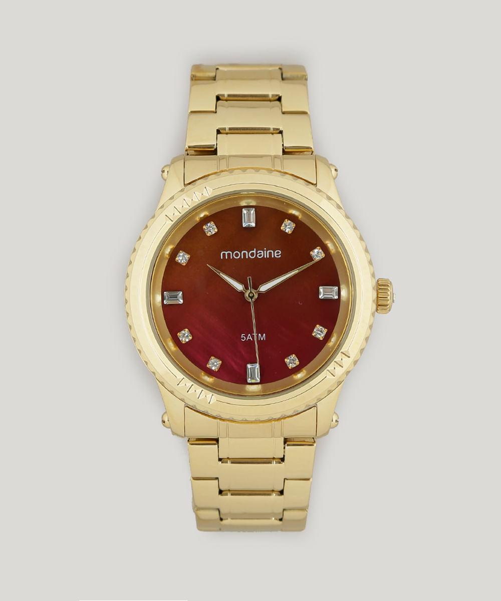 1b5491aa72a57 Relógio Analógico Mondaine Feminino - 78719LPMVDA2 Dourado - Único